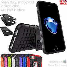 HEAVY DUTY TOUGH SHOCKPROOF CASE COVER FOR APPLE iPHONE 7 PHONE - 100% UK STOCK