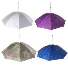 Outdoors Fishing Camping Hiking Golf Folding Umbrella Hat Head Cap Brolly