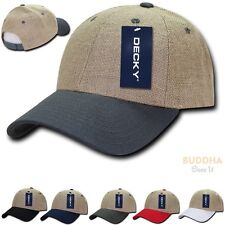 DECKY New 6 Panel Jute Low Crown Curved Bill Dad Caps Cap Hat Hats Unisex