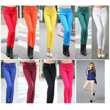 Ladies Women's High Waist Slim Fit Leggings Skinny Stretch Pencil Pants Trousers