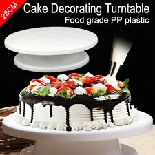 28cm 11'' Rotating Cake Decorating Turntable MODELLING tool Display Stand Mould~