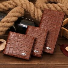 Fashion Mens Genuine Leather Bifold Wallet Credit/ID Card Holder Slim Fold Purse