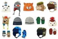 NWT Gymboree Boy Winter Hats Sizes: 0-12, 3-6, 6-12, 12-18, 12-24, 2T-3T, 4T-5T