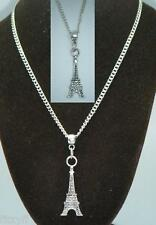 """18"""" or 24 Inch Chain Necklace & Eiffel Tower Pendant Charm Paris France Gift"""