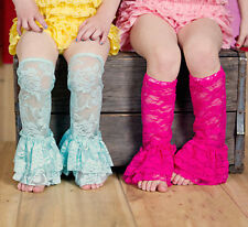 Baby Girls Lace Leg Warmers Thin Toddler Summer Leggings Socks 10 colors