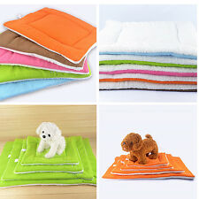 Dog Cat Puppy Washable Warm Fleece Pet Pleased Mat Kennel Cage Pad Cushion
