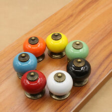 Door Cabinet Pull Drawer Knobs Ceramic Cupboard Spherical Multicolor Handles New