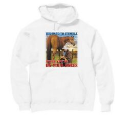 Pullover Hooded hoodie christian sweatshirt Cowboy hard to stumble when knees
