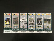 2008 Oakland A's Athletics Full Tickets YOU PICK ONE GAME Jeter Ichiro Street