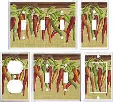 HOT CHILI PEPPERS SOUTHWEST DECOR LIGHT SWITCH COVER PLATE OR OUTLET V905