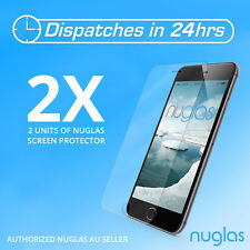 2x 100% GENUINE NUGLAS Tempered Glass Screen Protector  apple iphone 6 phone 6s