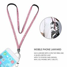 Rhinestone Crystal Bling Custom Lanyard & ID Badge Cellphone Key Holder Ring QT