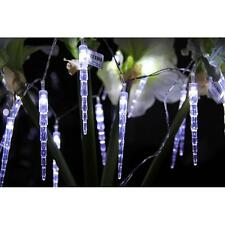 20LED Icicle String Solar Powered Fairy Lights Garden Party Christmas Outdoor #