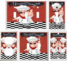 FAT CHEF  NEVER TRUST A SKINNY CHEF LIGHT SWITCH COVER PLATE OR OUTLET V907