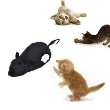 Wind Up Funny Running Mouse Rat Move Tail Cat Kitten Prank Toy Joking Gag AB