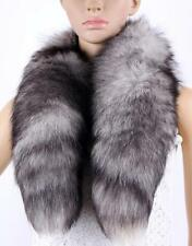 Real FOX fur Scarf Collar Shawl Wrap Cape Winter Stole Scarves wrap Women Sacrf