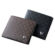 Fashion Men's Faux Leather Wallet Pockets Card Clutch Cente Bifold Purse Popular