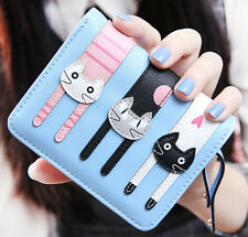 2016 Clutch Change Coin Cards Bag Purse Ladies Handbag New Cats Women Wallet