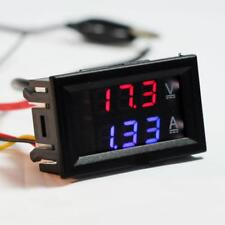 2016 New DC 100V 10A Voltmeter Ammeter Blue+Red LED Dual Volt Amp Meter Gauge ~A