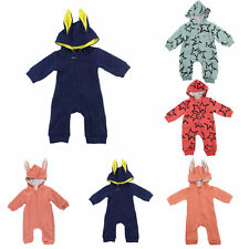 Newborn Infant Baby  Boys/Girls Children Cartoon Long Sleeve Winter Rompers MC