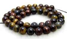 SALE small 8mm natural Multicolor Round tiger's-eye gemstone Beads strand -lo698