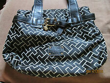 Beautiful Tommy Hilfiger Black and Tan Purse with Great Gold Accents