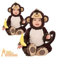 Baby Monkey Around Costume Toddlers Jungle Fancy Dress Outfit Ages 6-18 Months