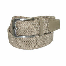 New CTM Men's Big & Tall Elastic Braided Stretch Belt with Silver Buckle