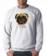 Long Sleeve T-shirt Adult Youth Nature Dog Breed Pug Pet Lover