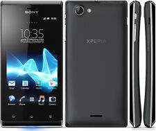 New Sony Xperia J ST26i 4GB 3G Android Camera Black Unlocked Smartphone
