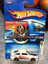 HOT WHEELS '06 FIRST EDITIONS, TOYOTA AE-86 COROLLA, 1:64 SCALE DIECAST TOY CAR