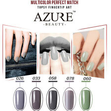 Azure Elegant Grey&Red Soak Off Art Color Salon UV/Led Gel Nail Polish 12ml
