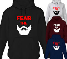 FEAR THE BEARD MENS FUNNY DESIGNER HOODY HOODIE FATHERS DAY BIRTHDAY GIFT