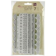 Prima Marketing Mixed Media Doll Cling Rubber Stamps Borders New