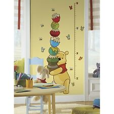 RoomMates RMK1501GC Pooh and Friends Peel and Stick Growth Chart New
