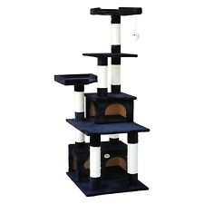 Go Pet Club 67-Inch Cat Tree Condo Scratching Post Furniture Black New