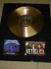 Metallica New Signed Postcard By 4 Ride The Lightning GOLD Disc Frame