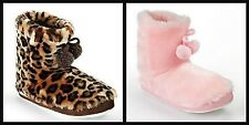 * NEW GIRLS Pink Cookie Leopard Bootie SLIPPERS 12 13 2 3