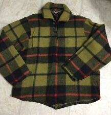 Rare Vtg Early 40S Woolrich Plaid Wool Pullover Hunting Chore Barn Jacket Lg