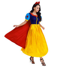 Snow White Princess Costume Adult Halloween Cosplay Parties Ball Gown Fancy Xmas