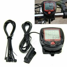 Cycling Bicycle Bike Computer LCD Odometer Speedometer Stopwatch Speed meter Pro