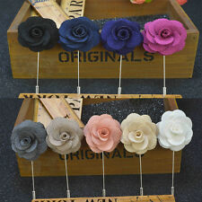 9 Colors Men's Lapel Pins Brooch For Wedding Suits Fabric Flower Brooch New 1pcs