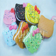 1 pc Random JUMBO HELLO KITTY DONUT Squishy Cellphone Soft Bread Straps Cute