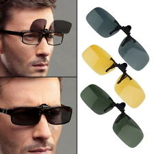 Driving Night Vision Clip-on Flip-up Lens Sunglasses Glasses Cool Eyewear TOP