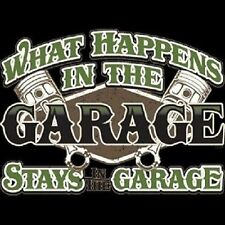 What Happens in the Garage Stays in the Garage Pistons HOODIE BLACK L - 4X