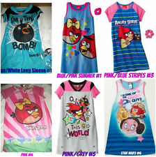 * NWT NEW GIRLS Angry Birds Mock-layer NIGHTGOWN PAJAMAS 4 6 7 8 10 12
