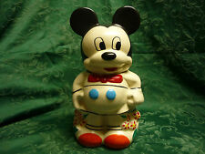VTG COOKIE JAR 1940'S DISNEY MICKEY MINNIE MOUSE TURNABOUT 4 IN 1