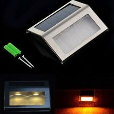 LED Solar Power Path Stair Outdoor Light Garden Yard Fence Wall Landscape Lamp@Q