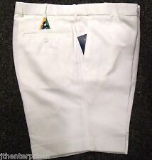 Bowls Australia Approved Flexi Waist Lawn Bowls SHORTS CREAM Many Sizes