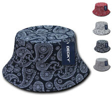 DECKY Paisley Bucket Hat Hats Caps Cap Paisley Bandana Design Cotton 2 sizes